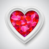 Heart Shaped Picture Frame Royalty Free Stock Images