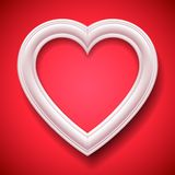 Heart Shaped Picture Frame Stock Photo