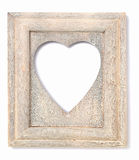 Heart shaped picture frame Stock Photography