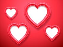 Heart Shaped Picture Frames Royalty Free Stock Image