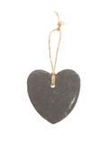 Heart shaped piece of slate Stock Photos