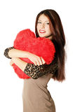 Heart-shaped pillow Royalty Free Stock Image