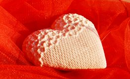 Heart shaped pillow Stock Images