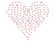 Heart Shaped Pills Stock Photo