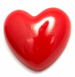 Heart shaped pin Royalty Free Stock Images