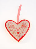 Heart shaped pin cushion. Royalty Free Stock Image
