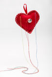 Heart shaped pincushion. Stock Photography