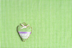 Heart shaped pincushion. Set of objects related to handcraft and sewing Stock Photography