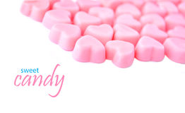 Heart shaped pink candies Stock Photography