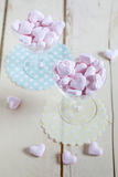 Heart shaped pink candy Royalty Free Stock Photos