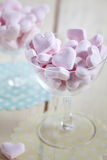 Heart shaped pink candy Stock Photos