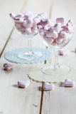 Heart shaped pink candy Royalty Free Stock Image