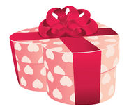Heart shaped pink gift box Royalty Free Stock Photo