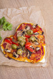 Heart shaped pizza Royalty Free Stock Images