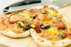 Heart shaped pizza Stock Photo