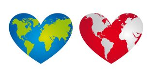 Heart-shaped planet Royalty Free Stock Photography