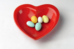Heart shaped plate Stock Image