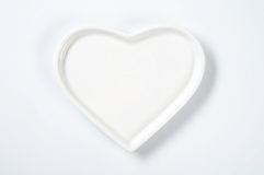 Heart shaped plate Royalty Free Stock Photo