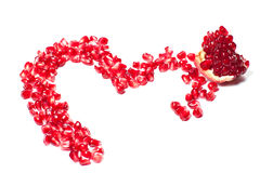 Heart shaped pomegrana Royalty Free Stock Photography
