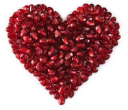 Heart Shaped Pomegranate Seeds Stock Photo