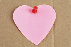 Heart shaped post it Stock Photo
