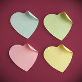 Heart shaped post it Royalty Free Stock Image