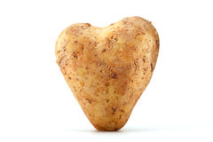 Heart shaped Potato Stock Images