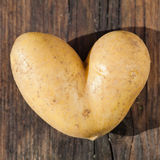 Heart shaped potato Royalty Free Stock Photos