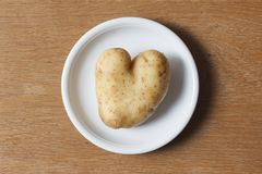 Heart shaped potato royalty free stock photography