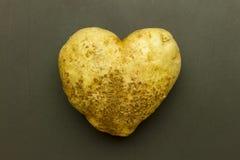 Heart shaped potato Royalty Free Stock Photos