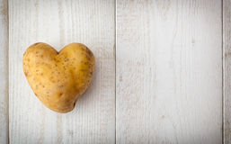Heart Shaped Potato Stock Photography