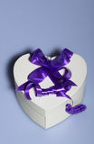 Heart shaped present box Stock Image