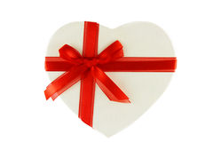 Heart shaped present box Royalty Free Stock Photography