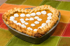 Heart shaped pumpkin pie Royalty Free Stock Photography