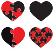 Heart shaped puzzle  graphic template illustration  on white background Stock Images