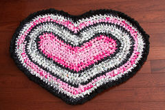 Heart-Shaped Rag Rug Royalty Free Stock Image
