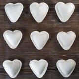 Heart shaped ravioli Stock Image