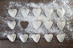 Heart shaped ravioli Royalty Free Stock Photo