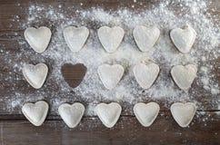 Heart shaped ravioli Royalty Free Stock Photo