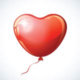 Heart shaped red balloon. Royalty Free Stock Photo