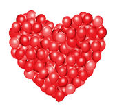 Heart shaped red balloons. 3d illustration Royalty Free Stock Photo