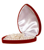 Heart shaped red box Royalty Free Stock Photography