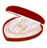 Heart shaped red box Stock Images