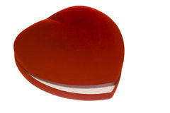 Heart shaped red box Royalty Free Stock Images
