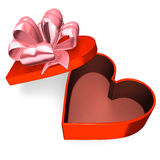 Heart-Shaped Red Box That Is Empty Royalty Free Stock Image