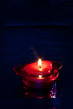 Heart shaped red candle Royalty Free Stock Photos