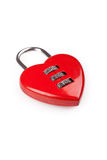 Heart shaped red lock Stock Photos