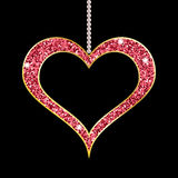 Heart shaped red pendant Royalty Free Stock Images