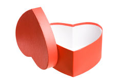 Heart shaped red present box. Stock Photography
