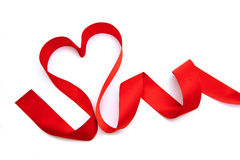 Heart shaped ribbon Royalty Free Stock Photography